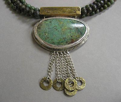 Brass Ring Dangles Neclace Original