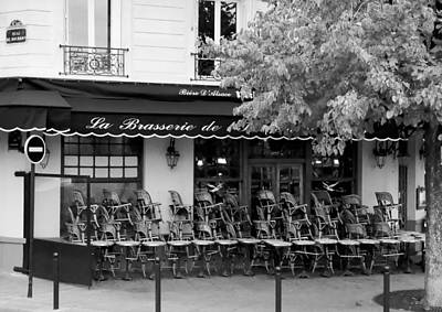 Photograph - Brasserie Early Morning by Mick Burkey