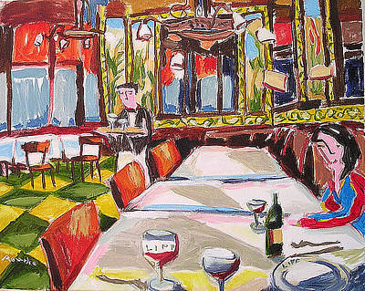 Painting - Brasserie Lipp by Nancy Rourke