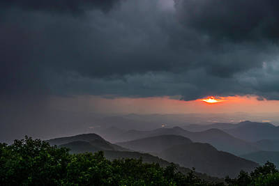 Photograph - Brasstown Bald Sunset by Michael Sussman