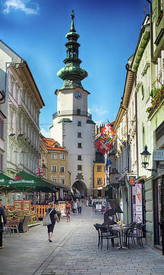 Photograph - Bratislava Saint Michaels Street by C H Apperson