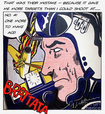 Photograph - Brattata - 1962 - Doc Braham - All Rights Reserved by Doc Braham - In Tribute to Roy Lichtenstein