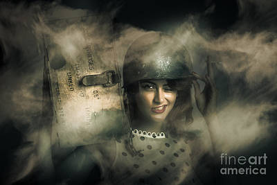 Ammunition Photograph - Brave Army Pinup by Jorgo Photography - Wall Art Gallery