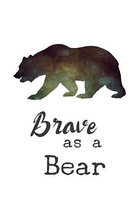 Digital Art - Brave As A Bear by Eleanore Ditchburn