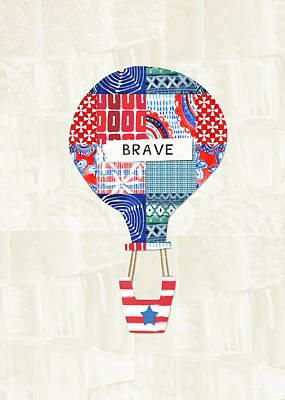 4th July Mixed Media - Brave Balloon- Art By Linda Woods by Linda Woods