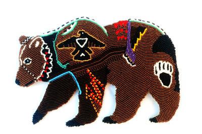 Mixed Media - Brave Bear by Ayasha Loya