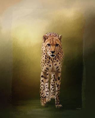Painting - Brave Enough - Cheetah Art by Jordan Blackstone