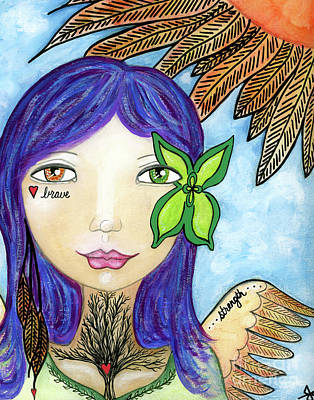 Luna Mixed Media - Brave Heart by Julia Ostara From Thrive True dot com