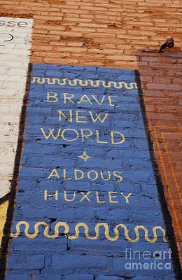 Brave New World - Aldous Huxley Mural Art Print by Steven Milner