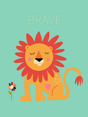 Brave Drawing - Brave by Nicole Wilson