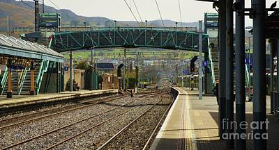 Bray Dart Station Panoramic Art Print by Poet's Eye