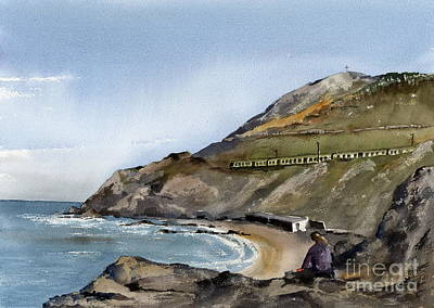 Painting - Bray... Naylors Cove  by Val Byrne