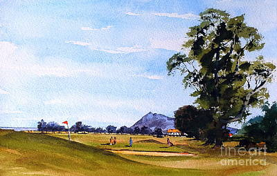 Painting - Bray... Woodbrook Golf Course by Val Byrne