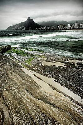 Photograph - Brazil - Rock And Sand by Colleen Joy