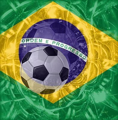 World Cup Mixed Media - Brazil 2010 by Fania Simon