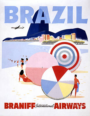 Brazil Vintage Travel Poster Restored Art Print