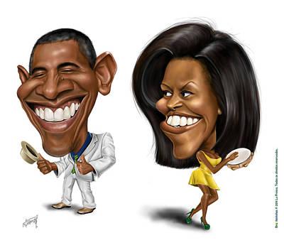 Michelle Obama Digital Art - Brazileirinhos by Lu Freesz