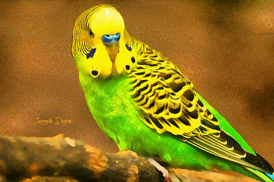 Parrot Digital Art - Brazilian Periquito  - Monet Sytle -  - Da by Leonardo Digenio
