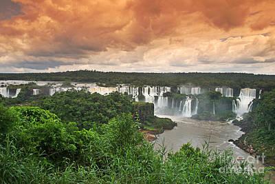 Photograph - Brazil,iguazu Falls,spectacular View by Juergen Held