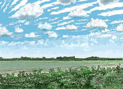 Digital Art - Brazoria County Field by Kerry Beverly