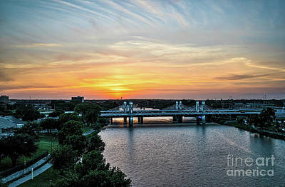 Colorful Photograph - Brazos Bridge At Sunset by Tod and Cynthia Grubbs