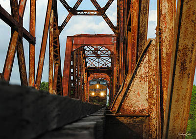 Photograph - Brazos River Railroad Bridge by Nathan Little