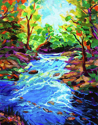 Wall Art - Painting - Brazos River Tributary by Charles Wallis