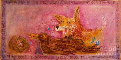 Painting - Bre Fox And Bre Crow by Gertrude Palmer