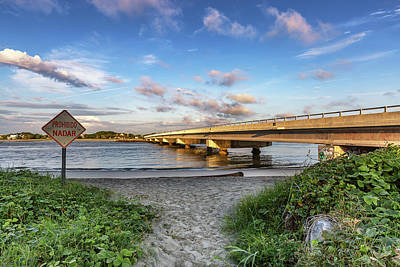 Photograph - Breach Inlet Bridge Isle Of Palms, Sc by Donnie Whitaker