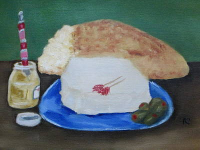 Bread And Cheese Painting - Bread And Cheese by Patricia Cleasby