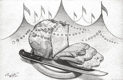 Mindful Drawing - Bread And Circuses by Chad Glass
