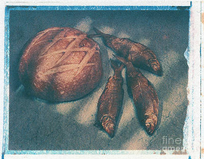 Bread And Fish Art Print by Jim Wright