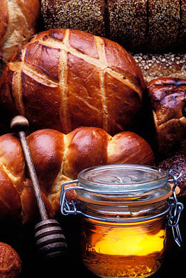 Glass Art Photograph - Bread And Honey by Garry Gay