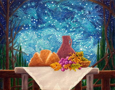Painting - Bread And The Fruit Of The Vine by Matt Konar