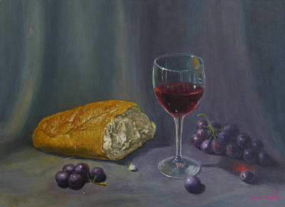 Painting - Bread And Wine by George Tuffy