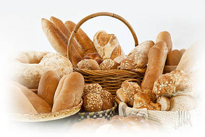 Linda King Photograph - Bread Arrangement #1 by Linda King