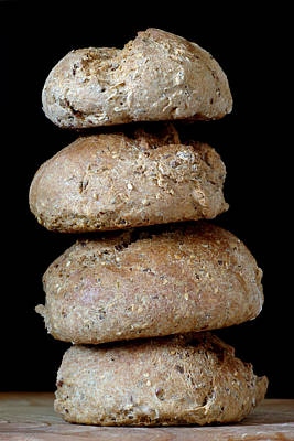 Photograph - Bread Rolls by Frank Tschakert