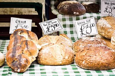 Bread Stall Art Print by Tom Gowanlock