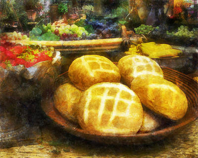 Bread Table Art Print
