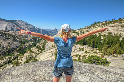 Photograph - Break After Yosemite Hiking by Benny Marty