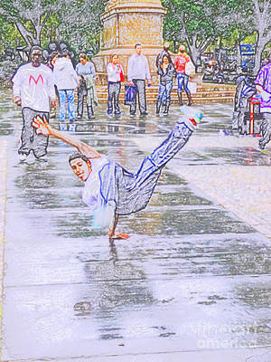 Photograph - Break Dancer by S Marshall