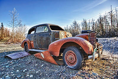 Rusted Cars Photograph - Break Down by Ed Boudreau