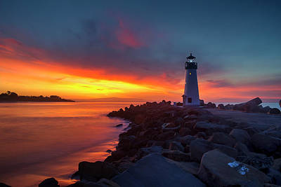 Photograph - Break Of Day At Walton Lighthouse by Morgan Wright