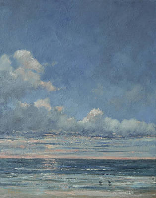 Isle Of Palms Painting - Break Of Day by Peggy Ellis