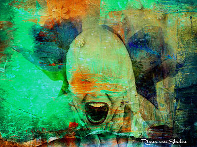 Digital Art - Break The Silence. by Riana Van Staden
