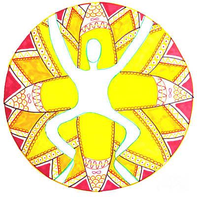 Mandalas Drawing - Break Through by Signe  Beatrice