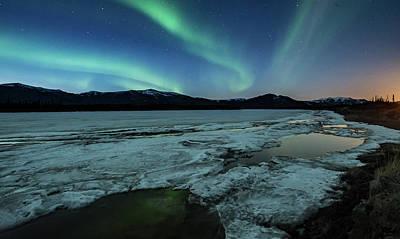 Photograph - Break Up Aurora  by Chris Multop