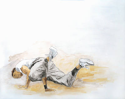 Hop Drawing - Breakdance 4 / Part Of Dubai Street Festival Collection by Jani Heinonen