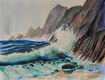 Painting - Breaker by John W Walker