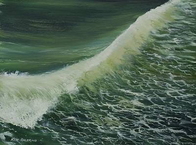 Art Print featuring the painting Breaker by Ken Ahlering